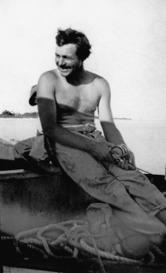 EH 8124P Ernest Hemingway fishing, Key West, 1928. Ernest Hemingway Photograph Collection, John F. Kennedy Presidential Library and Museum, Boston.